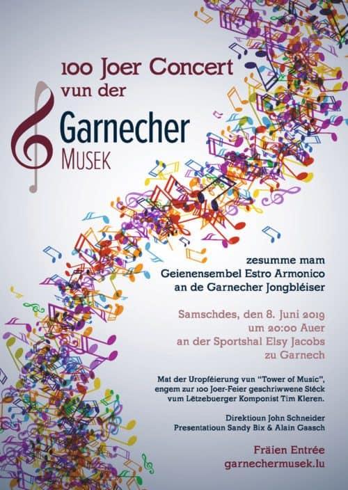 Garnecher Musek - 100 Joer Concert 8.6.2019