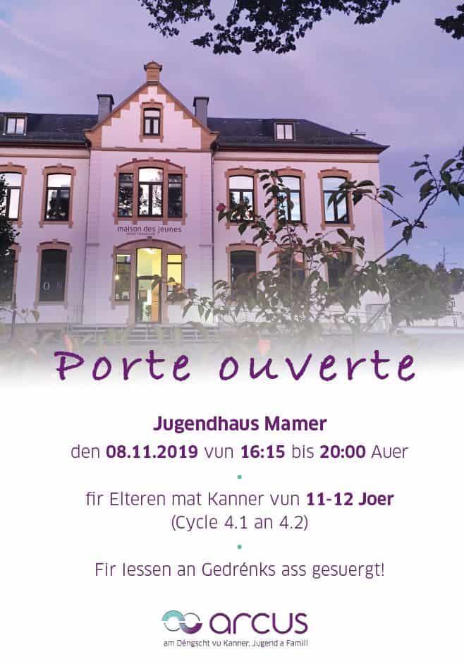 Porte ouverte Maison des jeunes 8.11.2019